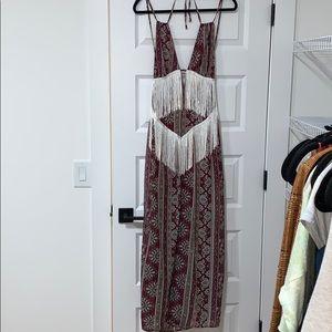 Tobi Fringe Maxi Dress